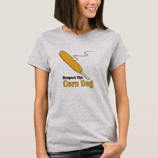 Respeite o cão de milho? camiseta