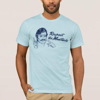 Respeite o t-shirt do bigode camiseta