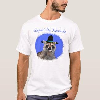 Respeite o t-shirt do homem do bigode camiseta