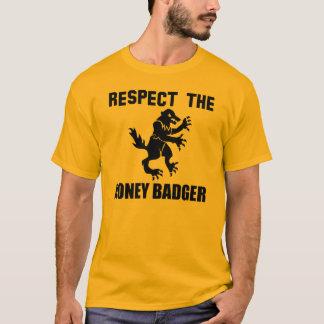 Respeite o texugo de mel camiseta