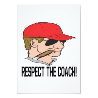 Respeite o treinador convite