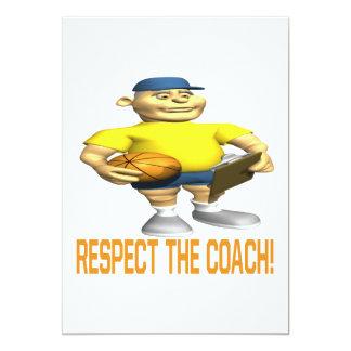 Respeite o treinador convite 12.7 x 17.78cm