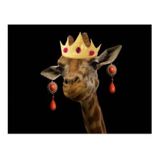 Respeite por favor a rainha cartão postal