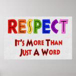 Respeito do arco-íris poster