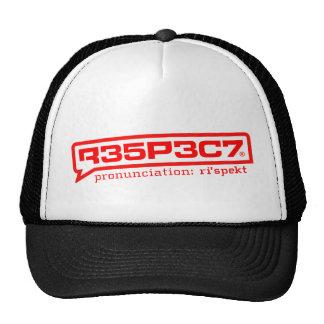 RESPEITO do chapéu do perseguidor R35P3C7 Bonés