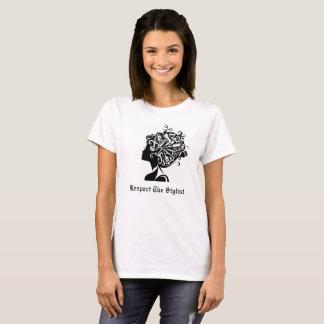 Respeito grande ideal o t-shirt do estilista camiseta