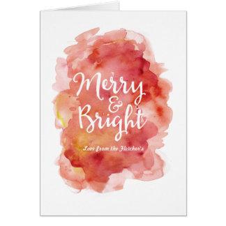 Respingo alegre e brilhante da aguarela do cartão