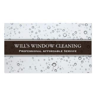 Respingo da água, líquido de limpeza de janela modelo cartao de visita