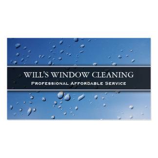 Respingo da água líquido de limpeza de janela cartões de visita