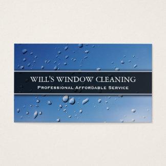 Respingo da água, líquido de limpeza de janela cartão de visitas