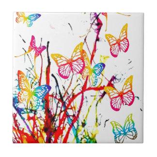 respingo da borboleta azulejo de cerâmica