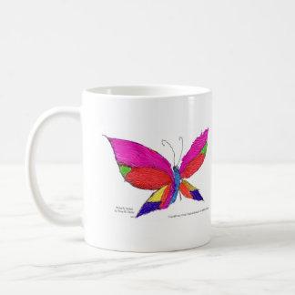 Respingo da borboleta caneca de café
