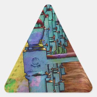 Respingo da cor adesivo triangular