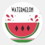 Respingo da melancia adesivos redondos
