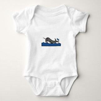 Respingo de Narwhal Body Para Bebê