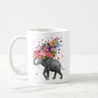 Respingo do elefante caneca de café