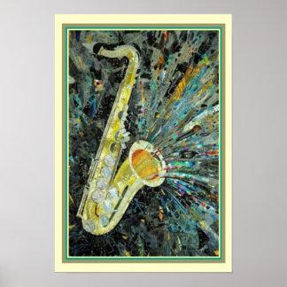 """""""Respingo do saxofone"""" 13 x poster 19"""