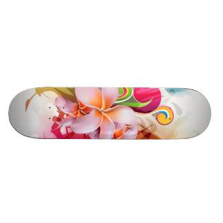 Respingo floral colorido shape de skate 18,4cm