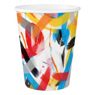 Respingo inspirado do copo de papel da cor