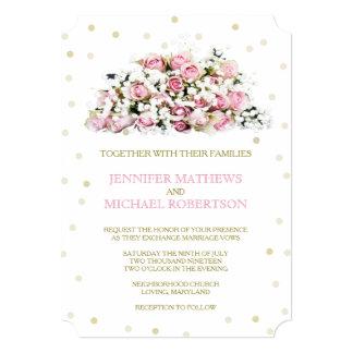 Respiração dos bebês dos rosas do rosa dos convite 12.7 x 17.78cm