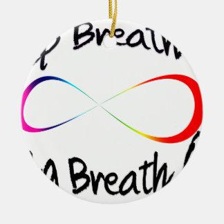 respiração infinita ornamento de cerâmica