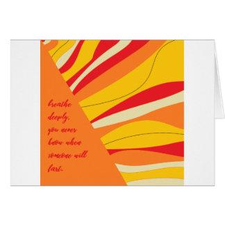 respire profundamente cartão