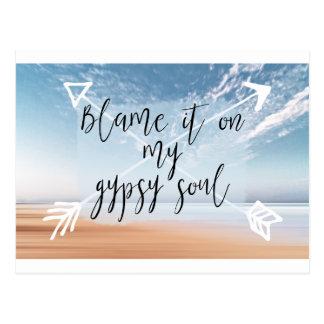Responsabilize-o em minha alma aciganada - cartão postal