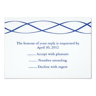 Resposta azul & branca do evento, RSVP ou cartões