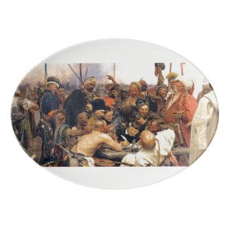 Resposta da bandeja ucraniana de Kozaky/Cossacks