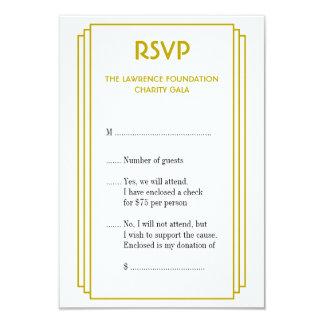 Resposta do ouro RSVP do quadro empilhado do tan Convite 8.89 X 12.7cm