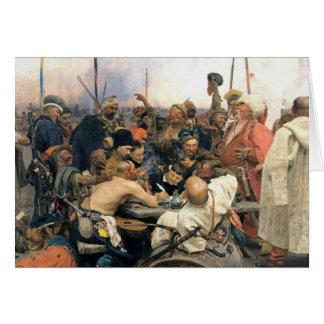 Resposta dos Cossacks de Zaporozhian Cartão Comemorativo