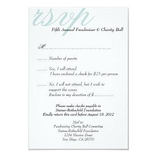 Resposta elegante do evento formal azul de prata convite 8.89 x 12.7cm