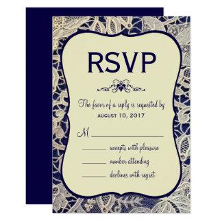 Resposta formal da resposta do casamento dos azuis convite 8.89 x 12.7cm