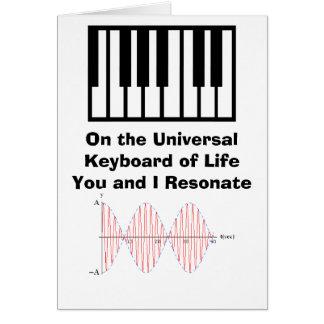 Ressonância 2, teclado, no Keybo universal… Cartão Comemorativo