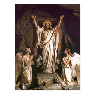 Ressurreição do cristo. Cartão da páscoa das belas Cartão Postal