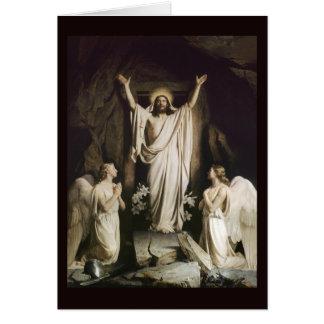 Ressurreição no túmulo cartão