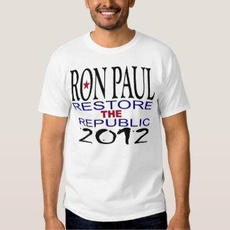 Restauração de Ron Paul a república Camisetas