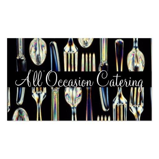 Restaurante da comida do planejador do casamento cartoes de visita