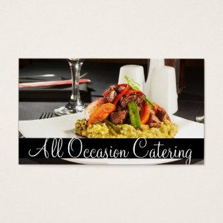 Restaurante da comida do planejador do casamento cartão de visitas