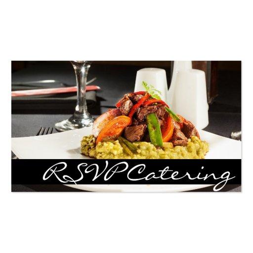 Restaurante da comida do planejador do casamento d cartões de visitas