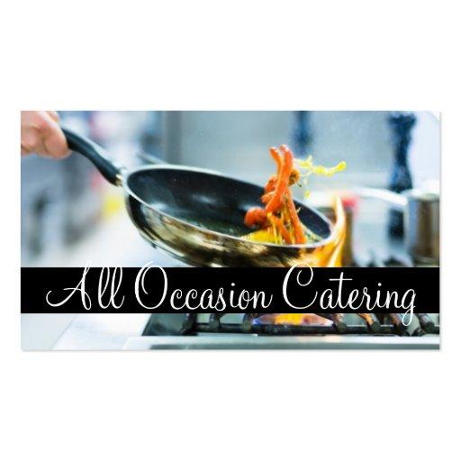 Restaurante da comida do planejador do casamento d modelo cartão de visita