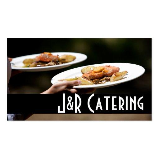 Restaurante da comida do planejador do casamento d cartoes de visitas