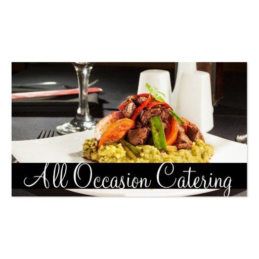 Restaurante da comida do planejador do casamento d cartões de visita