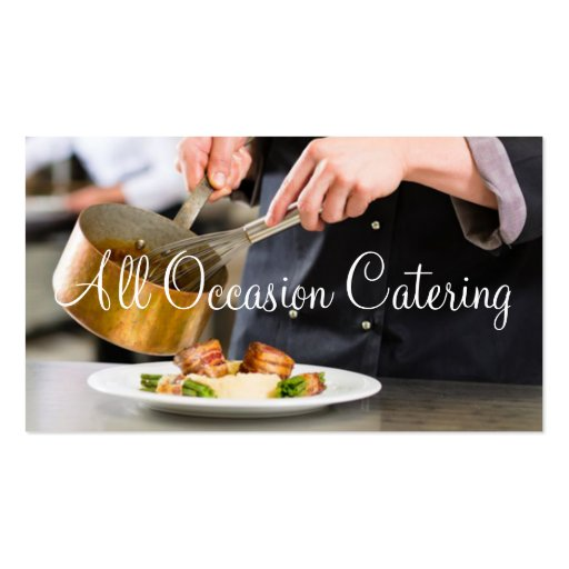 Restaurante da comida do planejador do casamento d cartoes de visita