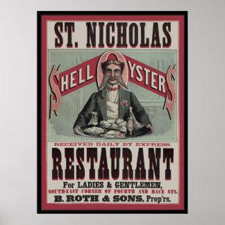 Restaurante da ostra de Shell Poster