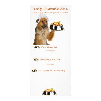 Restaurante do cão 10.16 x 22.86cm panfleto