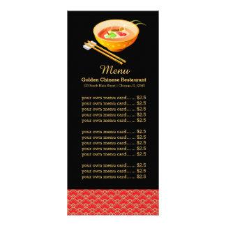 Restaurante do chinês do menu 10.16 x 22.86cm panfleto