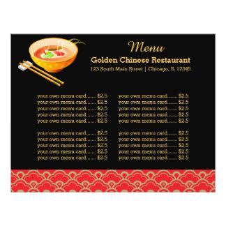 Restaurante do chinês do menu flyer 21.59 x 27.94cm