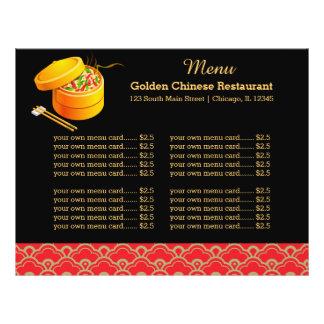 Restaurante do chinês do menu panfleto