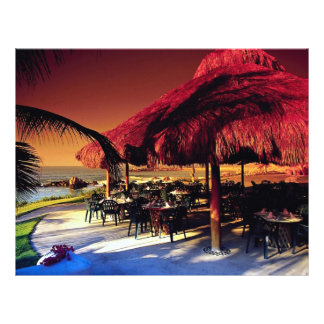 Restaurante do Concha do La Baja México Panfleto Personalizados